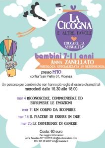 M'Io percorso bambini di educazione sessuale con Anna Zanellato, psicologo, sessuologo a Vicenza